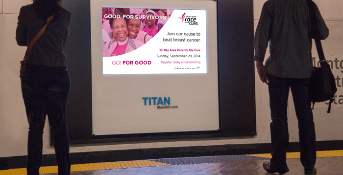 Go for Good: brandadvisors pro-bono campaign promoting Sunday's Race for the Cure.